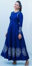 Indian Long Flared Gown Dress Pakistani Traditional Designer Gown Anarkali Dress