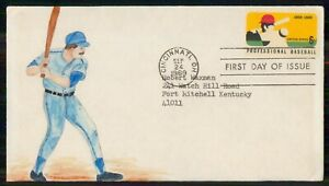 Mayfairstamps US FDC 1969 COVER PROFESSIONAL BASEBALL wwm4747
