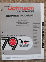 NEW 1979 Johnson Outboard Service Repair Manual 25 & 35 HP