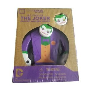 Loot Crate Exclusive DC Comics The Joker Painted Wooden Figure Sealed Lootcrate