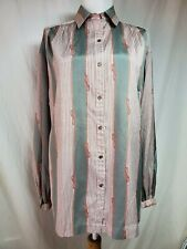 Vintage Givenchy for Chesa Button-Up Blouse Sz 10 Rope Print Gray Burgundy