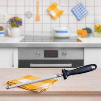 "33cm 12""Diamond Knife And Tool Sharpening Steel Oval Sharpener Rod Honing Stick"