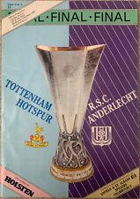 More details for tottenham hotspur v anderlecht 1984 uefa cup final