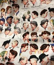 Norman Rockwell Fabric Fq 22x18 cotton