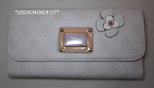 GUESS PERSUASION Slim Wallet Purse Flower Signature 4G Logo Mocha Lilac Chalk