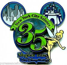 Disney Pin: WOD NYC - NYC Salutes 35 Magical Years At WDW: Tinker Bell (LE 1000)