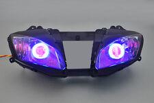 Projector Assembled Headlight Light Angel Devil Eye Kit For Yamaha YZF R6 06-07