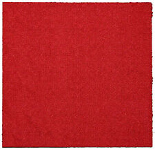 CARPET TILES - ROYAL RED LOOPED (50cm X 50cm) - SAVE 60% ON RETAIL PRICES