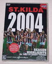 St Kilda Saints AFL 2004 Season Highlights & Wizard Cup Grand Final DVD New
