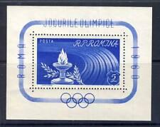 TIMBRE BLOC DE ROUMANIE N° 47 ** JEUX OLYMPIQUE DE ROME 1960