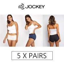 5 x PAIRS JOCKEY PARISIENNE COTTON MARLE FULL BRIEF Underwear Undies Briefs