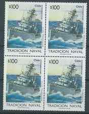 CHILE 1995 Navy tradition ships MNH block of 4