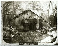 Native American Sugar Camp Ojibwa Maple Sap Indian Sugar Camp 1860 Rockland MI