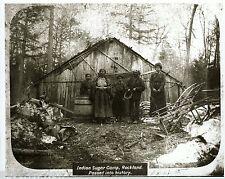 Native American Sugar Camp Ojibwa Maple Sap Indian Sugar Camp 1860 Rockland MI