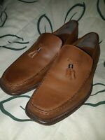 Tods Brown Leather tacels Slip-On Loafers  Mens Size US 9