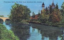 Avon River STRATFORD Ontario Canada 1920-40s Valentine-Black Postcard