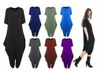 Women Ladies celebrity Short Sleeve Baggy Legenlook Hareem Jumpsuit Dress 8-22