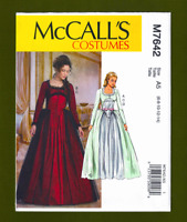 Victorian Era Ball Gown Costume Sewing Pattern~Dress & Skirt (6-14) McCalls 7642