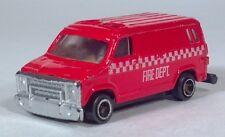 "Vintage Fire Dept Department Dodge Full Size Van 2.75"" Die Cast Scale Model"