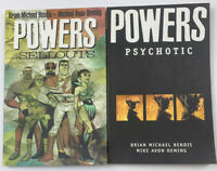 Powers Vol. 6 The Sellouts Vol. 9 Psychotic By Brian Michael Bendis & Oeming SK