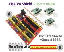 CNC Shield V4 Expansion Board + 3pcs A4988 Stepper Motor Driver for 3D Printer