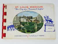 Vintage Plastichrome St. Louis City of a Thousand Sights Sportsmans Park Eades