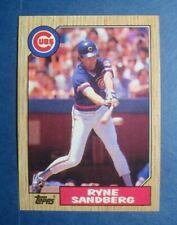 1987 Topps **RYNE SANDBERG** MLB Baseball Card # 680 **Chicago CUBS** **HOF**
