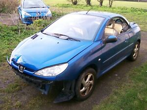 PEUGEOT 206 CC 1.6 2004 REG BLUE KMF 3 DR BREAKING SPARES GRILL BUMPER WING BOOT