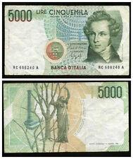 ITALIE  ITALY  5000 lire  1985  RC 606240