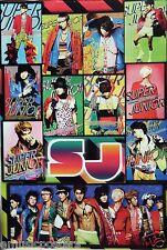 """SUPER JUNIOR """"COLORFUL COLLAGE v.2"""" ASIAN POSTER - Korean K-Pop Music Boy Band"""