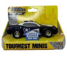 Tonka Toughest Minis Police Car Light Sounds Black Blue Tonka Police 51098