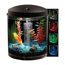 Aquarium Kit 360 Fish Tank W LED Light 2-Gallon Filter Tubing Air Pump Kid Small