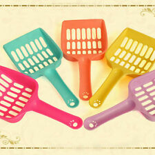 Cat Dog Kitten Plastic Litter Tray Scoop Spoon Colorful Waste Scooper Shovel UK