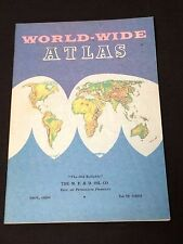 Excellent 1961 M.F.&D. Oil Co. World-Wide Atlas Maps 31 pages Clean Crisp!