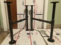 """1/2"""" x 18"""" Deep DIY Industrial Black Iron Pipe Legs,Perfect For Coffee Tables"""