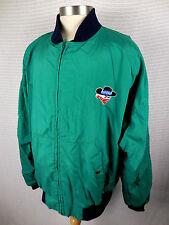 Vintage Skoal Bandit Mens XL Nylon Jacket Windbreaker Zip Up Racing Tobacco