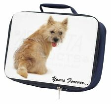 "Cairn Terrier Dog ""Yours Forever..."" Navy Insulated School Lunch Box, AD-CT1yLBN"
