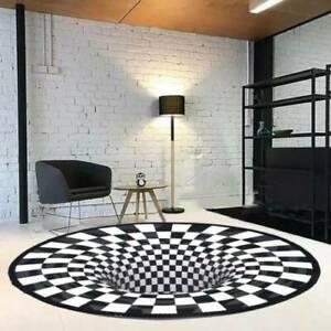 3D Bottomless Hole Optical Illusion Area Rug Carpet Floor Mat Home Decorations