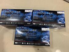 New Listingmircoflex Mf300l Diamond Grip Powder Free Latex Gloves Large 3 Boxes
