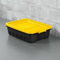 Plastic Storage Tote Containers With Lids Organizer 6 Pack Sterilite Stackable