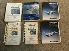Cessna Citation 525 CJ Flight Safety Training and Operating Manuals