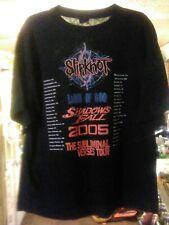 Slipknot Vintage T Shirt 2005 Subliminal Verses Tour Concert Metal Band