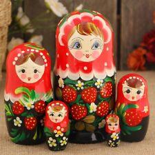 Matroschka Handgemacht, Babuschka, Steckpuppe, Holz Puppe 15cm Hochloma RedLux