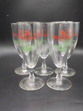 5 Vintage Michelob Stem Bar Draught Beer Goblet Pedestal Glass Anheuser Busch A+