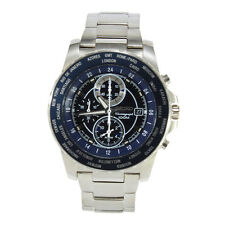 Seiko Criteria SNAC59 P1 Silver Black Blue Dial Men's Chronograph Quartz Watch