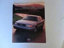 1996 Sales Brochure Audi Model Line Sales Brochure 1996