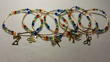 Lote de Semanarios clasicos multicolor en cristal, y componente en chapa de oro