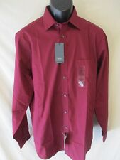 Arrow Polyester Henna Red Regular Fit Long Slve Point Dress Shirt SR$40 NEW
