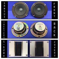 """Pair Vintage 2"""" C065N14 Tweeter Speakers From SANSUI S-520U Speakers W/ Covers"""