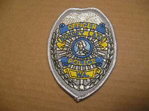 BONNEY LAKE WASHINGTON POLICE BREAST PATCH